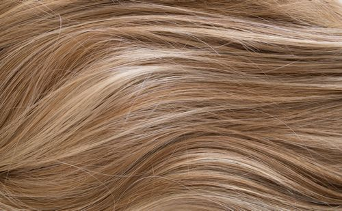 A757G - Medium brown roots with light brown & blonde highlights
